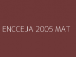 ENCCEJA 2005 MAT