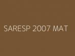 SARESP 2007 MAT