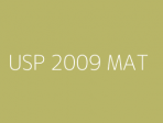 USP 2009 MAT