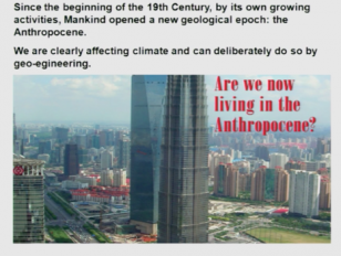 Atmospheric Chemistry and Climate in the Anthropocene Lindau-Nobel Paul Crutzen 2012