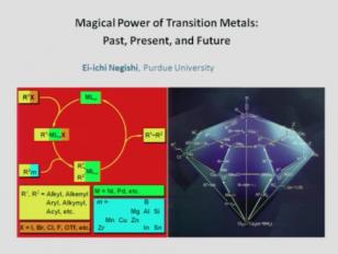 Magical Power of d-Block Transition Metals - Past, Present and Future Lindau-Nobel Ei-Ichi Negishi