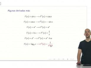Derivadas de funciones elementales y propiedades