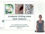 Learning English - Academic Writing - some basic features