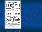 Teaching language to the deaf in the 17th century